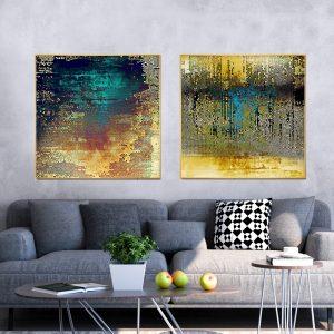 תמונת קנבס אבסטרקט כוורת לסלון לעיצוב הבית