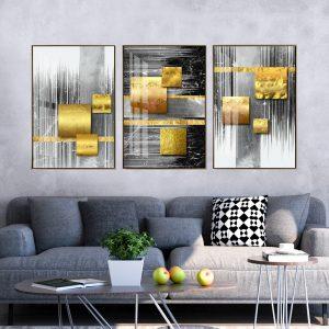 תמונת קנבס אבסטרקט ריבועים לסלון לעיצוב הבית