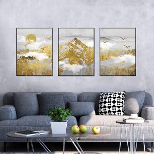 תמונת קנבס אוצורות עולם לסלון לעיצוב הבית
