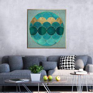 תמונת קנבס בטן הדג לסלון לעיצוב הבית