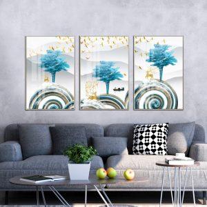 תמונת קנבס גבעות מעוגלות לסלון לעיצוב הבית