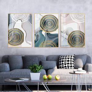תמונת קנבס גזעי השפע לסלון לעיצוב הבית
