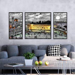 תמונת קנבס הכותל הזוהר לסלון לעיצוב הבית