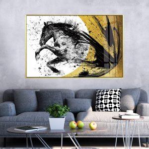 תמונת קנבס התפרצות הסוס לסלון לעיצוב הבית