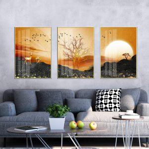 תמונת קנבס זריחת עולם לסלון לעיצוב הבית
