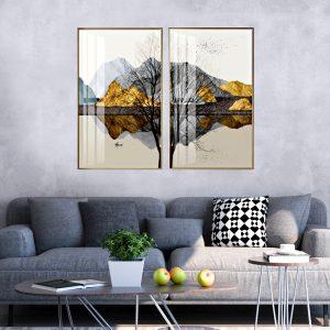תמונת קנבס חיבור העץ לסלון לעיצוב הבית