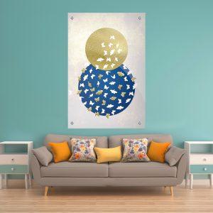מעגל הפרפרים תמונת זכוכית