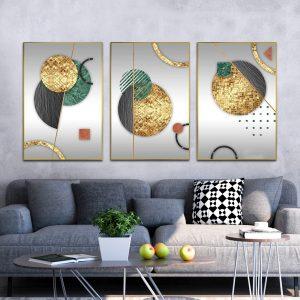 תמונת קנבס עיגולי פסיפס לסלון לעיצוב הבית