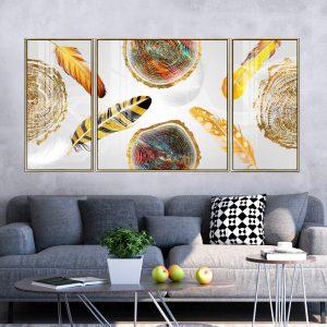 תמונת קנבס עלים וגזעים לסלון לעיצוב הבית