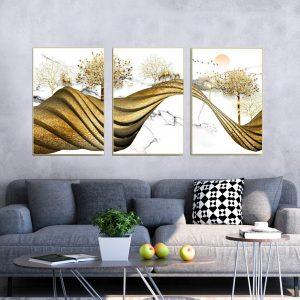 תמונת קנבס שביל האיילים המסולסל לסלון לעיצוב הבית