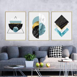 תמונת קנבס שיש צורני לסלון לעיצוב הבית