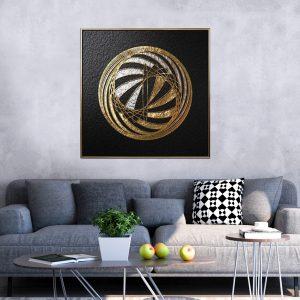 תמונת קנבס כדור נחושתי לסלון לעיצוב הבית