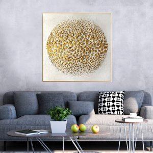 תמונת קנבס כדור אבנים לסלון לעיצוב הבית