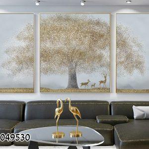 תמונת קנבס עץ החיים לסלון לעיצוב הבית