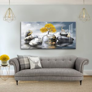 תמונת קנבס אבני שיש האיילים לסלון לעיצוב הבית