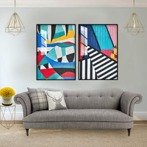 תמונת אבסטרקט סטריט לסלון לעיצוב הבית
