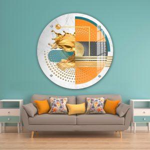 תמונת זכוכית אבסטרקט צורות מודרני 2 לעיצוב הבית על קיר בסלון