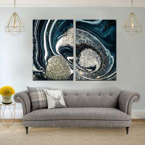 תמונת קנבס אבסטרקט רויאלי לסלון לעיצוב הבית