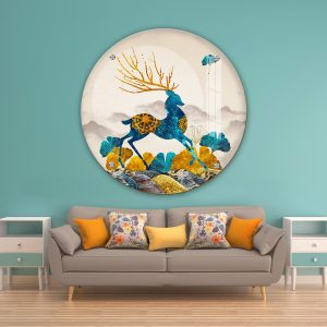 תמונת זכוכית אייל ספייס לעיצוב הבית על קיר בסלון
