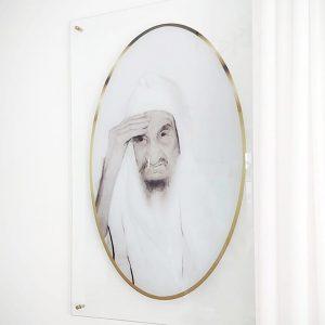 תמונת זכוכית באבא סאלי לסלון לעיצוב הבית