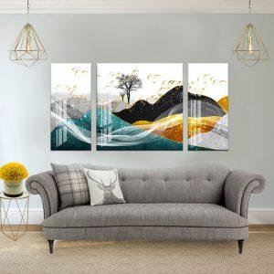 תמונת קנבס החולות הצבעוניים לסלון לעיצוב הבית