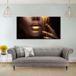 תמונת קנבס הנוזל היקר לסלון לעיצוב הבית