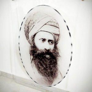 תמונת זכוכית הרב יוסף חיים (הבן איש חי) לסלון לעיצוב הבית