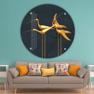 תמונת זכוכית חסידות השפע לעיצוב הבית על קיר בסלון