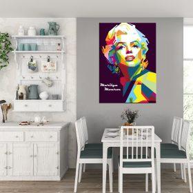 תמונת קנבס מרלין מונרו פופארט גאומטרי 2 מטבח לסלון לעיצוב הבית