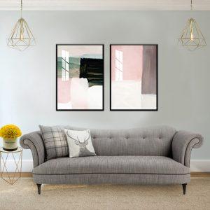 סט תמונות צבעי פודרה לסלון לעיצוב הבית