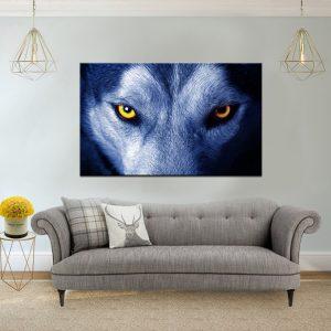 תמונת קנבס עיניי זאב לסלון לעיצוב הבית