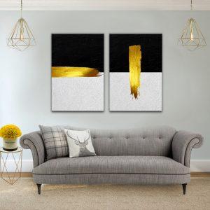 תמונת קנבס פס אומנותי לסלון לעיצוב הבית