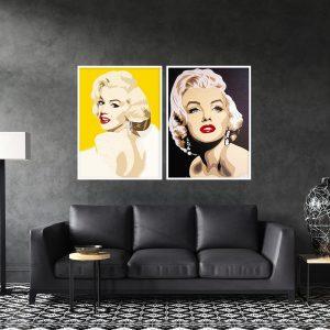 תמונת צמד מונרו לסלון לעיצוב הבית