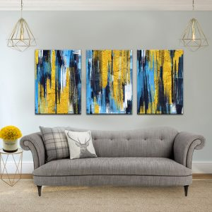 תמונת קנבס אבסטרקט אלקטרו לסלון לעיצוב הבית