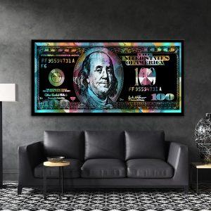 תמונת קנבס 100 דולר פופ לסלון לעיצוב הבית