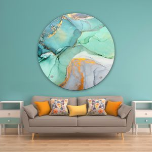 תמונת זכוכית אבסטרקט סבוני לסלון לעיצוב הבית
