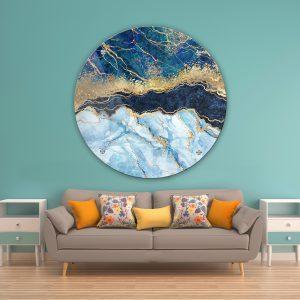 תמונת זכוכית אבסטרקט שיש יוקרתי לסלון לעיצוב הבית