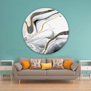 תמונת זכוכית אבסטרקט תמנוני לסלון לעיצוב הבית