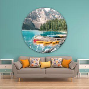 תמונת זכוכית אגם מורנה לסלון לעיצוב הבית