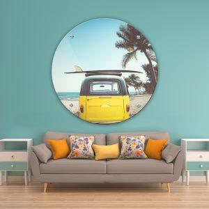 תמונת זכוכית בדרך לחופש לסלון לעיצוב הבית