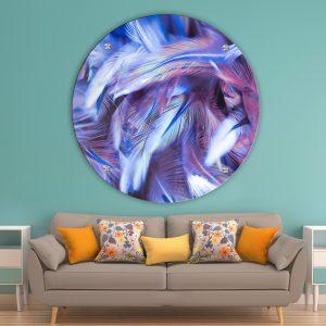 תמונת זכוכית נוצות אולטרה לסלון לעיצוב הבית