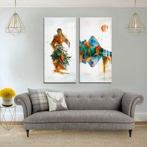 תמונת קנבס סיפורו של סמוראי לסלון לעיצוב הבית