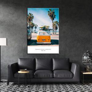 תמונת קנבס רכב הגלשנים לסלון לעיצוב הבית