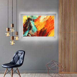 לייטבוקס תמונה מוארת - אבסטרקט לבה לעיצוב הבית