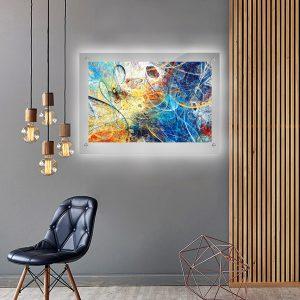 לייטבוקס תמונה מוארת - אבסטרקט סלסולים לעיצוב הבית