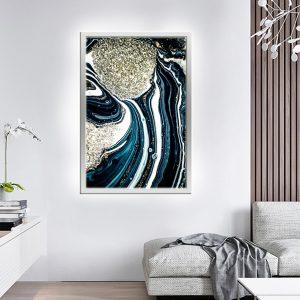 לייטבוקס תמונה מוארת - אבסטרקט רויאל לעיצוב הבית