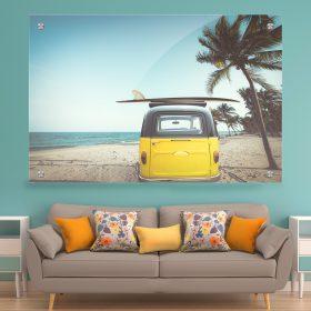 תמונת זכוכית בדרך לחופש רחוק לסלון לעיצוב הבית