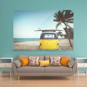 תמונת זכוכית בדרך לחופש רחוק אבסטרקט רויאלילסלון לעיצוב הבית