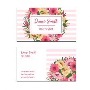 כרטיס ביקור - פרחים דגם 1
