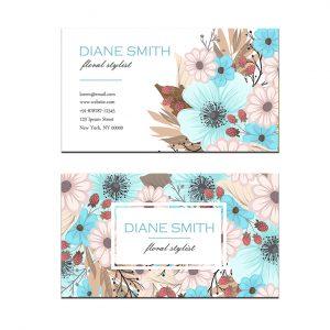 כרטיס ביקור - פרחים דגם 2